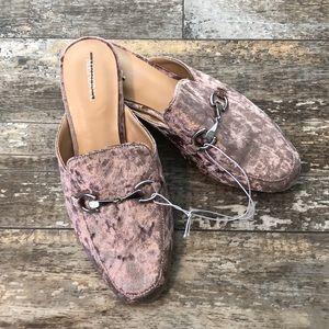 Lavender Velvet Slip On Shoes Women's Size 7